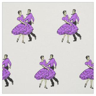 Tecido Do casal ocidental da dança do país dança quadrada