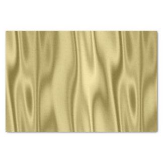 Tecido do cetim do falso do ouro nas dobras papel de seda
