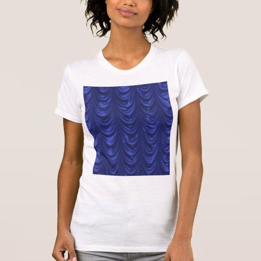 Tecido do cetim dos azuis cobaltos com textura camiseta