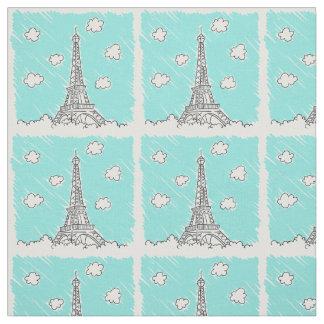 Tecido do costume da ilustração da torre Eiffel