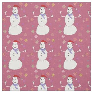 Tecido do costume do boneco de neve do Natal