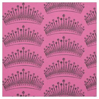 Tecido do design da coroa da princesa