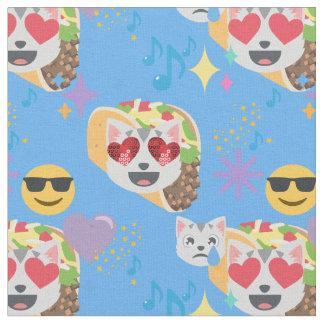 tecido do emoji do gato do taco
