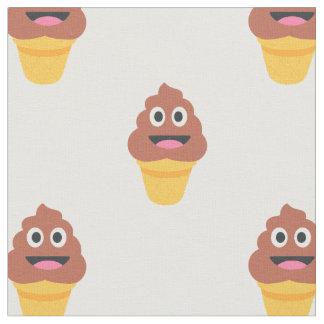 tecido do emoji do poo do cone do sorvete