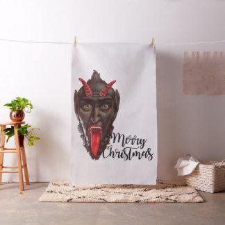 tecido do Feliz Natal do krampus