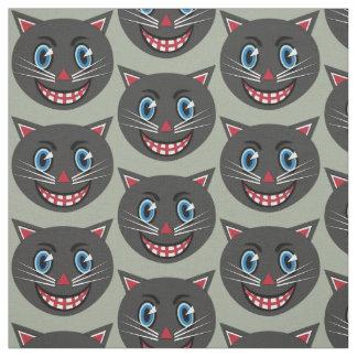 tecido do gato preto do vintage dos anos 30