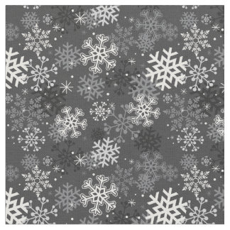 Tecido do impressão do floco de neve do