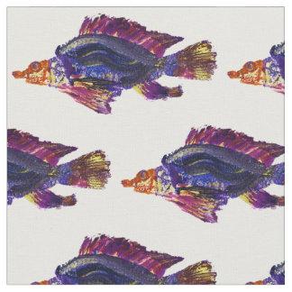 Tecido do impressão dos peixes