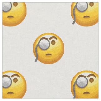 tecido do monocle do emoji
