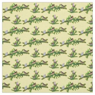 Tecido do partido do passarinho de zebra (amarelo)