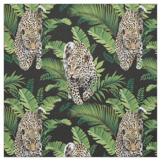Tecido do teste padrão dos leopardos