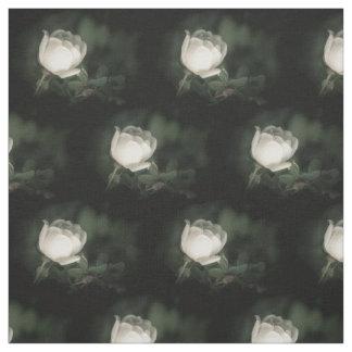 Tecido Dogrose branco em um fundo escuro