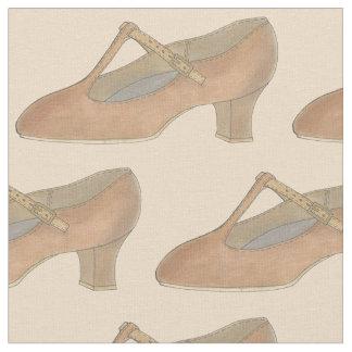 Tecido dos calçados da dança do caráter do teatro