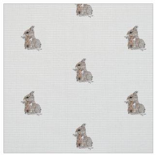 Tecido dos coelhos do bebê