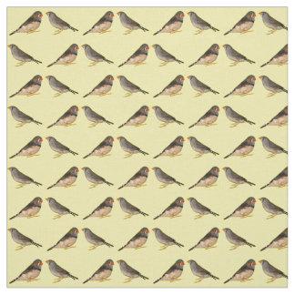 Tecido dos passarinhos de zebra (amarelo)
