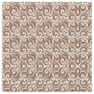 Tecido elegante do Pompadour de Brown