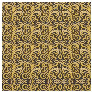 Tecido elegante do Verdure do ouro