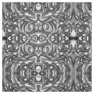 Tecido Em Bush - arte abstracta preto e branco