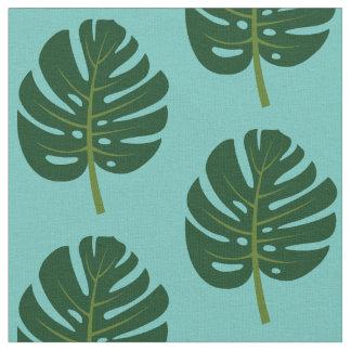 Tecido em folha de palmeira tropical do impressão