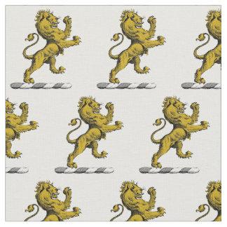 Tecido Emblema ereto C da crista do leão heráldico