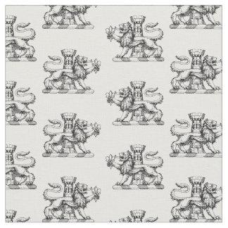 Tecido Emblema heráldico da crista da flor de lis da