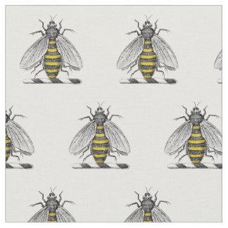 Tecido Emblema heráldico formal C da brasão da abelha do