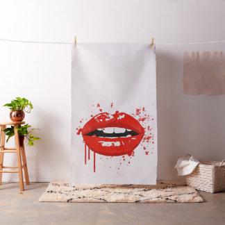 Tecido Encanto vermelho do beijo da composição da beleza