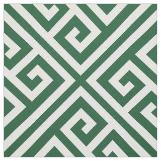 Tecido Escala chave grega de verde de caçador grande