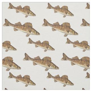 Tecido Escola de peixes dos Walleye