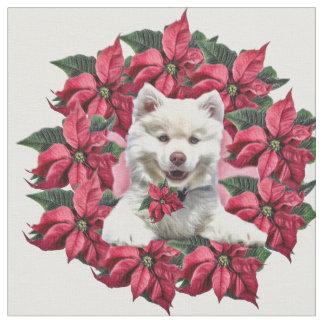 Tecido Eskimo americano da raça do cão do Natal