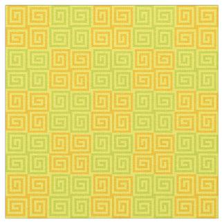 Tecido Espirais de bloqueio - amarelo