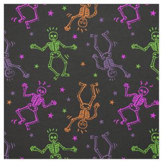 Tecido Esqueletos da dança do Dia das Bruxas