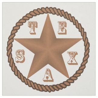 Tecido Estrela de Texas com a beira da corda grande