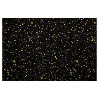 Tecido Estrelas douradas