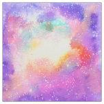 Tecido Estrelas pastel pintados mão da galáxia da