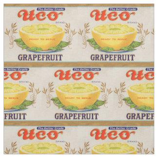 Tecido etiqueta da toranja da marca de Uco dos anos 30