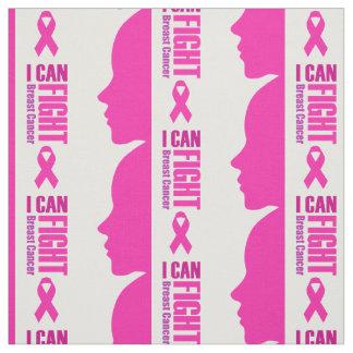 Tecido Eu posso lutar mulheres do apoio ao cancer de mama
