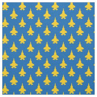 Tecido F-35 amarelo dos aviões de combate do relâmpago 2