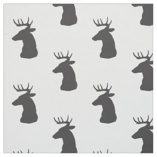 Tecido Fanfarrão da silhueta dos cervos com Antlers