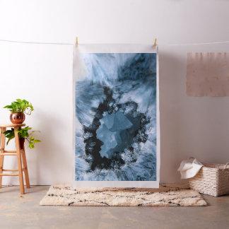Tecido Fantasia azul de cristal