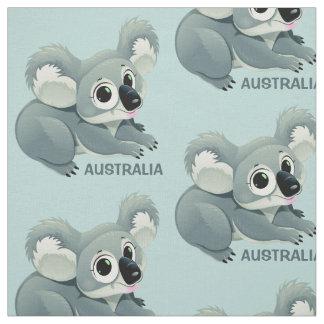 Tecido feito sob encomenda do texto do Koala