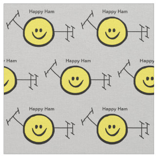 Tecido feliz amarelo do logotipo do radioamador a