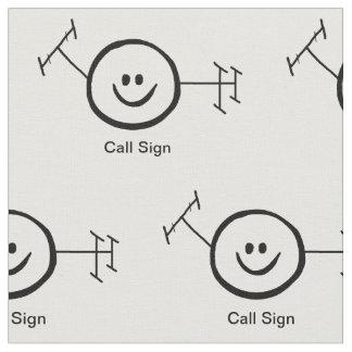 Tecido feliz do sinal do logotipo e de chamada do