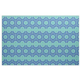 Tecido - fileiras dos hexágonos no azul