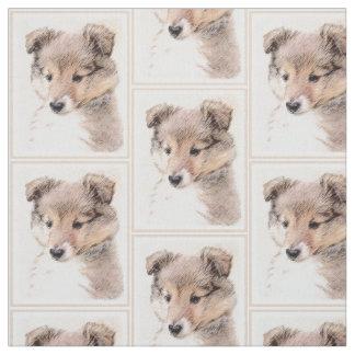Tecido Filhote de cachorro do Sheepdog de Shetland