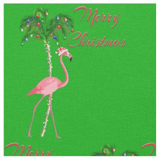 Tecido Flamingo do Feliz Natal