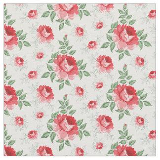 Tecido Flor cor-de-rosa