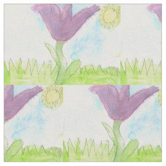 Tecido flor que floresce no sol