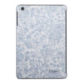 Tecido floral azul do vintage capa para iPad mini retina