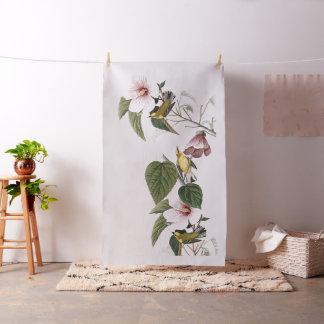 Tecido floral dos animais selvagens dos pássaros